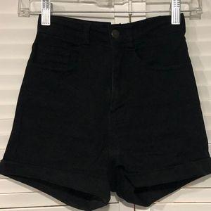 H&M High Rise Jean Shorts